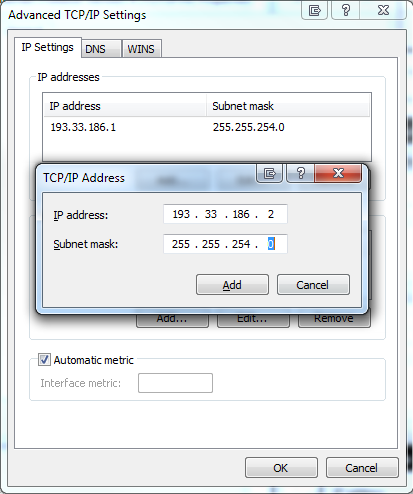 Add Multiple IP Address