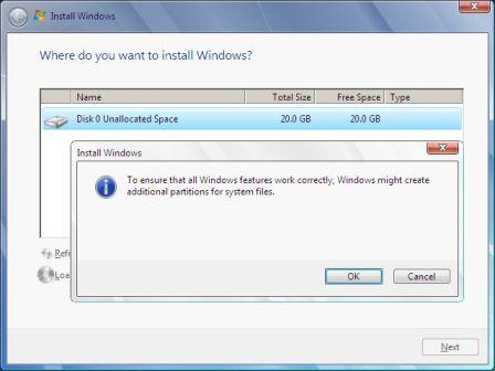 Additional Partition in Windows 2008